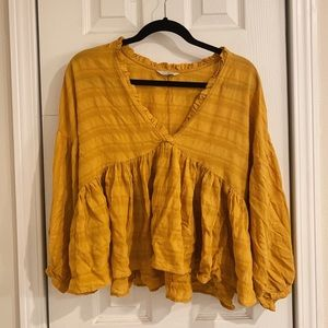 Mustard Yellow Blouse — Worn Once!